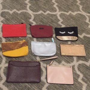 Wallet/makeup bag lot